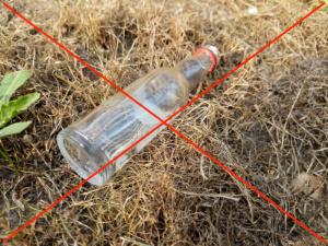 weggeworfene Flasche